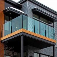 Canadian standard Steel aluminum material Topless  post glass railings  tempered glass banister Manufactures