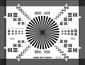 TUV 280x210mm Lens Focus Test Chart Sineimage YE0100 Reflective Manufactures