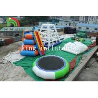 5m D Green / White Inflatable Trampoline PVC Inflatable Water Toy For Adults Manufactures