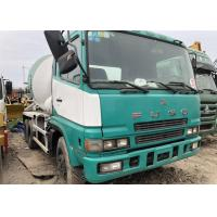 White And Green Used Construction Machinery , 2014 Mitsubishi Fuso Concrete Mixer Manufactures