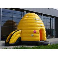 Multifunction Inflatable Bouncer , Yellow Inflatable Bouncers For Adults With Small Slide Manufactures