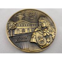 China Customized Both Sides 3D Brass / Copper / Zinc Alloy Memorial Coin with Antique Gold, Nickel, Brass Plating on sale