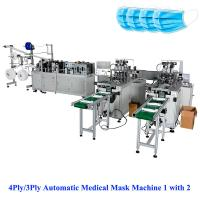Quality 3Ply/4Ply Automatic Mask Making Machine 1with 2,  sales@aoyomachine.com, Whatsapp 008613530008369 for sale