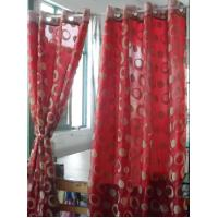Quality Flocking window finished curtain for sale
