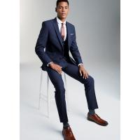 OEM Mens Tuxedo Suits with Two Button Fastening Jackets / Bright Blue 3 Piece Suit Manufactures