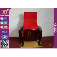 Modern Conference Room Chairs With Writing Pad In Arm / Metal Frame Manufactures