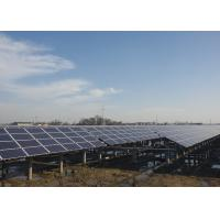 Customized Solar Panel Mounting Structure , Ground Mount Solar Racking Systems Manufactures