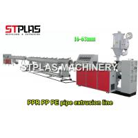 20-63mm Diameter PPR Plastic Pipe Making Machine , HDPE Pipe Production Line Manufactures