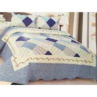 Comfotable Quilt Bedding Set , Cotton Comforter Sets Border In Wave Or Straight Manufactures
