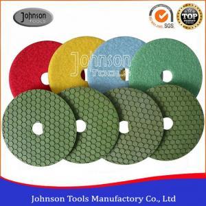China 125mm Dry Diamond Polishing Pads For Marble / Granite / Stone on sale