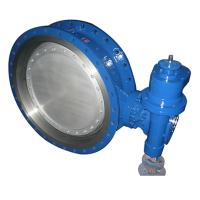 bare stem Double Three Eccentric Flanged Metal Seat Butterfly Valve of bkvalve Manufactures