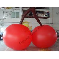 Red PVC 3m High Cherry Shaped Balloons For Trade Fair Display Manufactures
