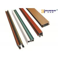 Wooden Like Aluminum Door Profile Decorative T5 / T6 Heat Treatment Manufactures