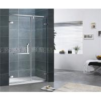 Quality Customized Clear Tempered Glass Shower Screen 10MM 180 Degree Magnetic Seal for sale