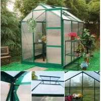 6x6ft anodized greenhouse with clear structural drawing Manufactures