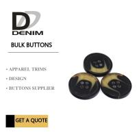 Four Holes Custom Polyester Bulk Clothing Buttons For Coat Horn Effect Manufactures