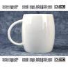 Buy cheap Beer barrel white ceramic beer mug custom advertising LOGO for your design from wholesalers