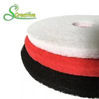 Polyester Polishing Pad For Dry Concrete , Marble Floor Cleaning Pad Wear Resistant Manufactures