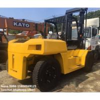 Quality used diesel 2012 model 15ton komatsu forklift truck FD150E-7  low work hrs widely used in ports and factory for sale