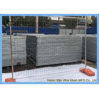 Heavy Duty Galvanized Temporary Netting Fence With Concrete Block Base Manufactures
