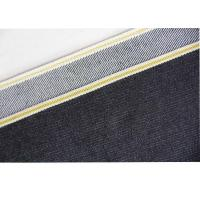 China Gold Line Bull Denim Fabric , Cotton Polyester Spandex Denim Jeans Material on sale