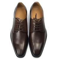 Buy cheap Brown Color Mens Leather Casual Shoes Low Heel Shoe Height Business Affairs from wholesalers