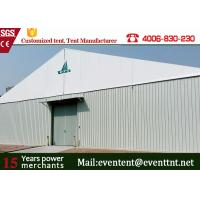 China Prefab building A Frame Tent Large Volume Logo Printing for Car Storage on sale