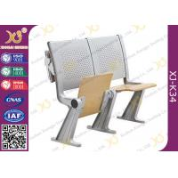 Eco - Friendly Aluminum Alloy School Desk And Chair With Wood Table Aluminum Hinge Manufactures