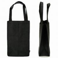 Wine Bag for 2 Bottles, Green Product, Made of 80g/m² Nonwoven Material Manufactures