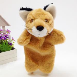 China plush fox,fox hand puppet,stuff puppet,warm heart fox hand puppet on sale