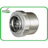 China Food Grade Sanitary Butt Weld Check Valve Scientific Connection Design For Industrial on sale