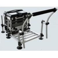 China Aluminium Frame Fishing Seat Boxes with Footplate and Rod Rest STBX026 on sale