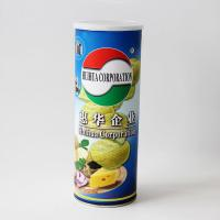 Peel Off Foil Sealed Embossing Paper Composite Cans For Chips , Snack Foods Manufactures