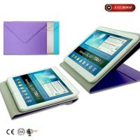 China Envelope Soft Ipad Mini Leather Case Book Folding Wire Drawing Unique , Purple on sale