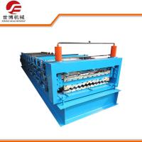 840 - C21 Double Rib Roll Forming Equipment , Metal Roof Roll Forming Machine Manufactures