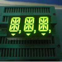 Green Alphanumeric LED Display 14 Segment For Instrument Panel Triple-Digit 14.2mm Manufactures