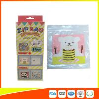Cartoon Custom Printed Resealable Bags With Zipper Top For Food / Candy / Cookies Manufactures