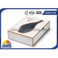 Quality Luxury PVC / PET Window Paper Gift Box Rigid Drawer Cardboard Gift Boxes for sale