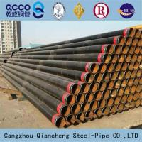 SEAMLESS STEEL PIPE API 5L ASTM A53 A106 WITH BLACK COATING BEVELLED ENDS AND CAPS Manufactures