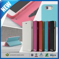 PU Stand Iphone 6 Plus Premium Cell Phone Leather Cases With Card Slot Manufactures