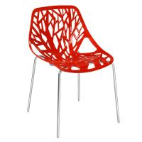 KLD Modern Side Dining Chair With Chromed Legs modern plastic dining chair Manufactures