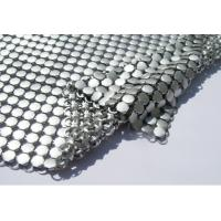 Metallic Sequined Aluminum Mesh Shower Curtain , Mesh Drapery Fabric Soft Texture Manufactures