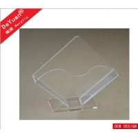 Irregular Transaprent Hotel  Acrylic Holder Stand 190 * 170MM Manufactures