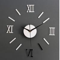 DIY 3D Roman Numbers Mirror Style Multi-Color Wall Clock Home Decor Mirror Wall Sticker Manufactures