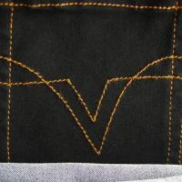 32/2 Twist Yarn Satin Weave Cotton/Poly Stretch Denim Fabric, Available in Black, Very Large Stretch Manufactures