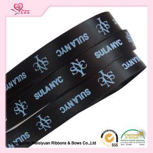 China 10 mm Black Custom Printed Ribbon for Christmas thermal transfer Printing process wholesale