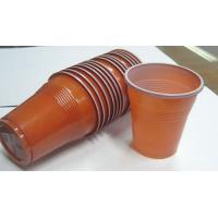 5 Oz 166ml Disposable Juice Cups , Double Color Custom Plastic Coffee Cups Manufactures