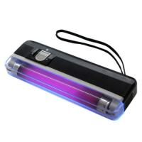Purple UV Mini Money Detector / Multi-Currency Detector , OEM Manufactures