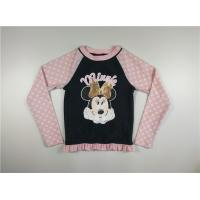 Children'S Uv Swimwear  Minnie T Shirt Long Sleeve Crew Neck Soft Rubber Printed Bottom Manufactures