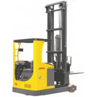Stable Electric Mast Reach Truck , 2 Ton Forklift Warehouse Lifing Equipment Manufactures